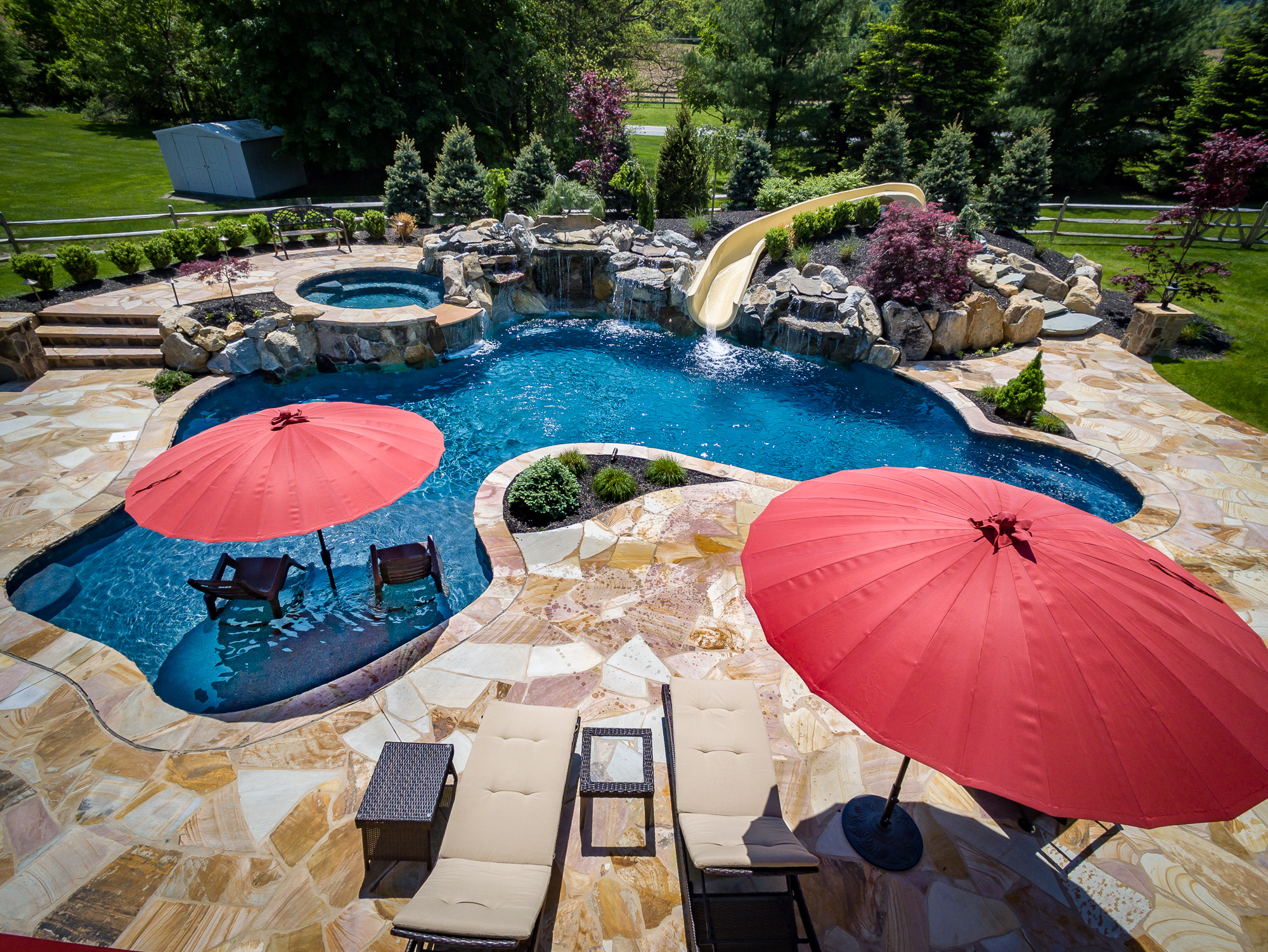 Bloomsbury nj custom inground swimming pool design for Pool design estimator