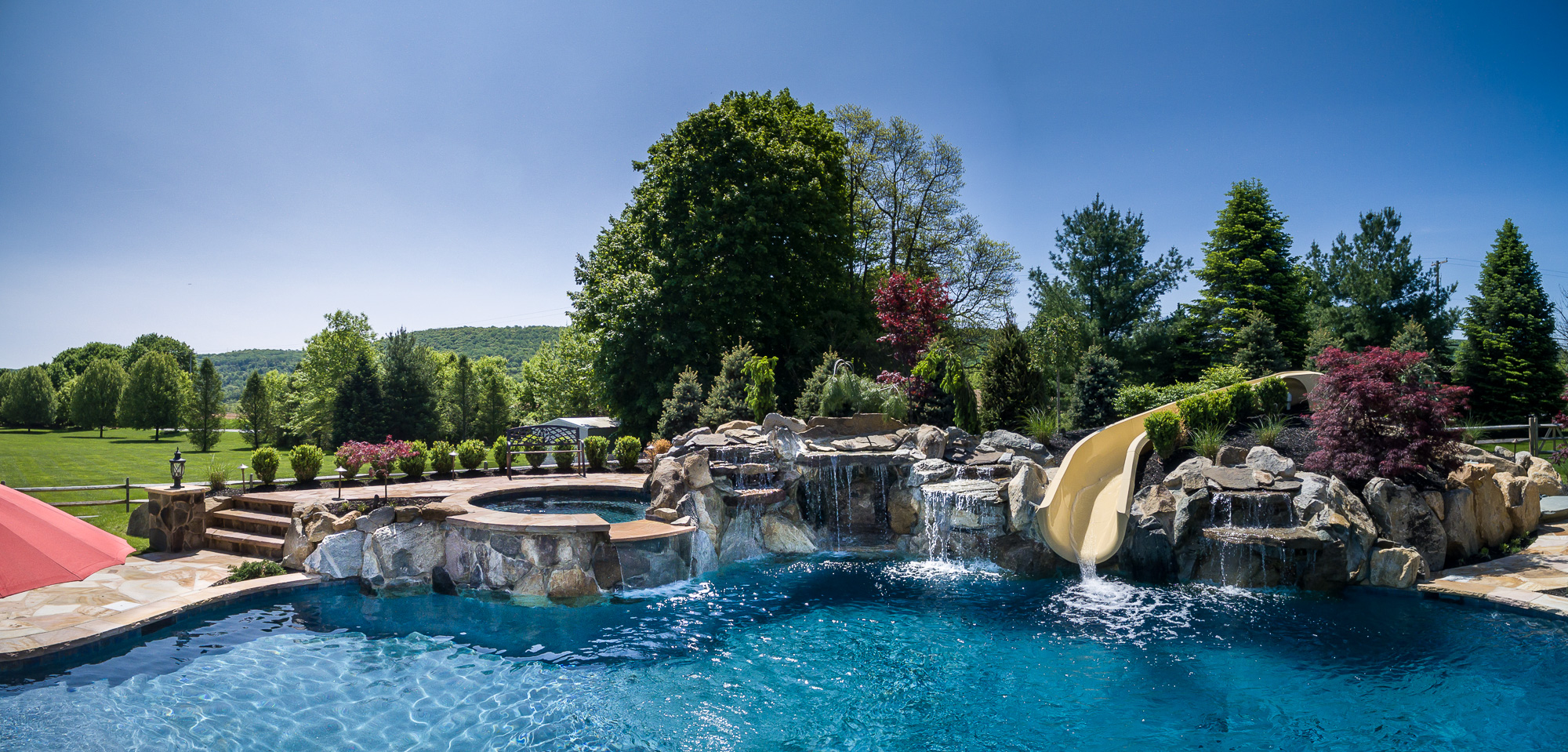 Bloomsbury nj custom inground swimming pool design for Pool design inc bordentown nj