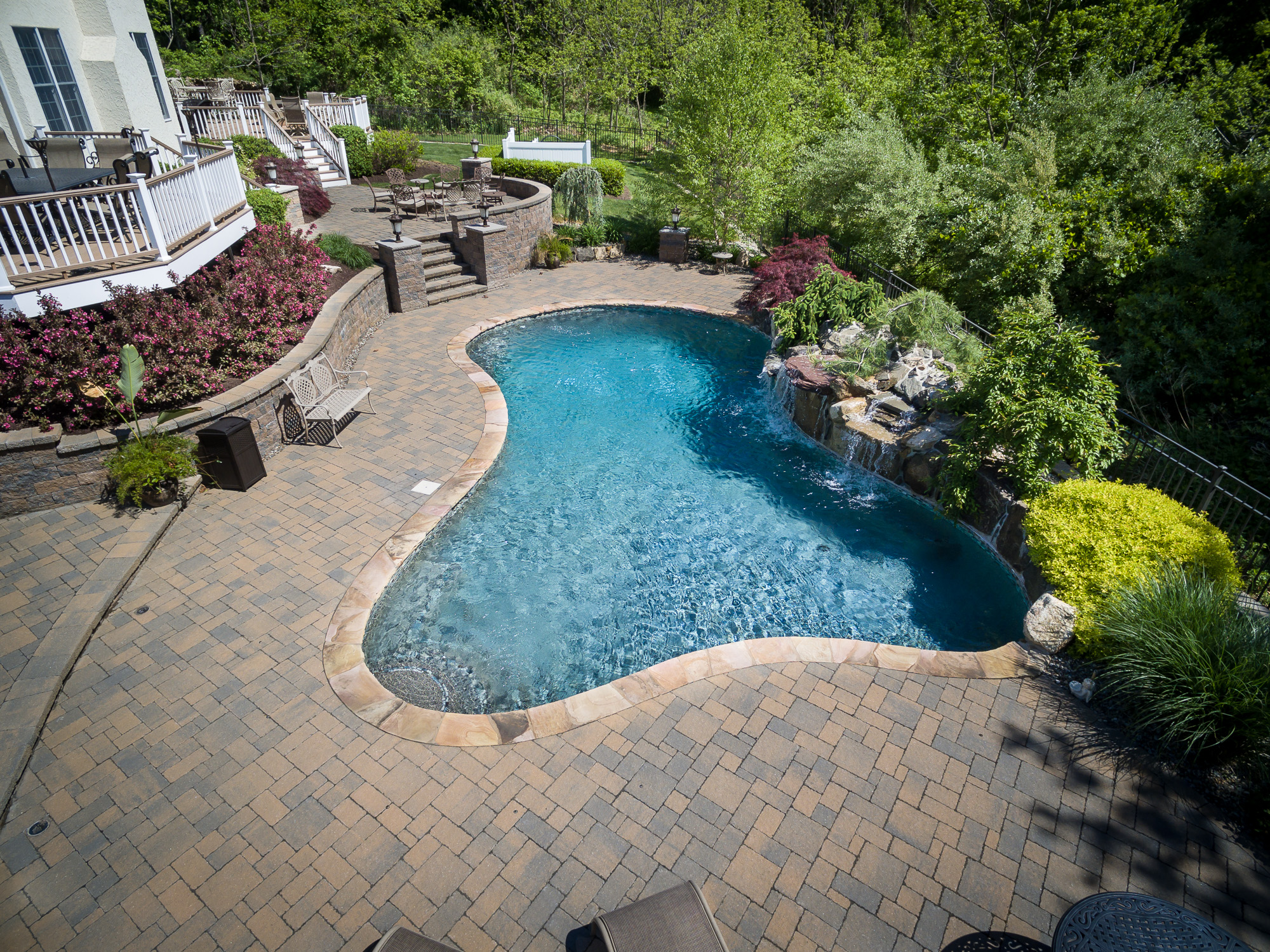 Chester nj custom inground swimming pool design for Inground pool designs