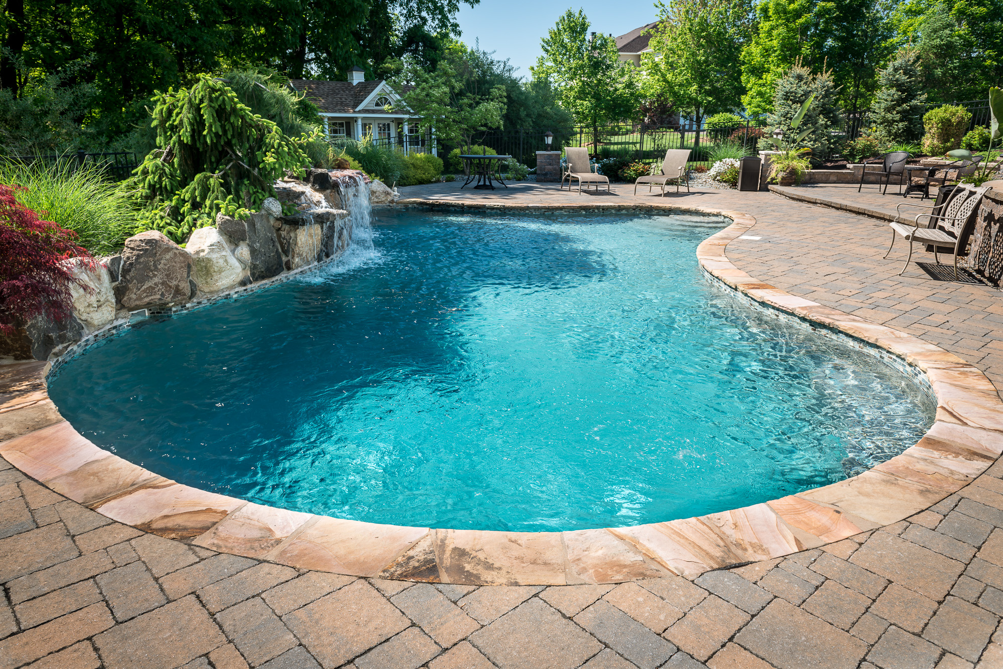 Custom inground pool designs interior design for Pool design hamilton nj