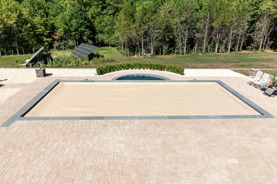 Pool By Design the ideas are almost endless you can have an outdoor wood burning pizza oven and then add a kegerator instant boiling water prep surfaces and bar Inground Pools Chester 2 Pools By Design New