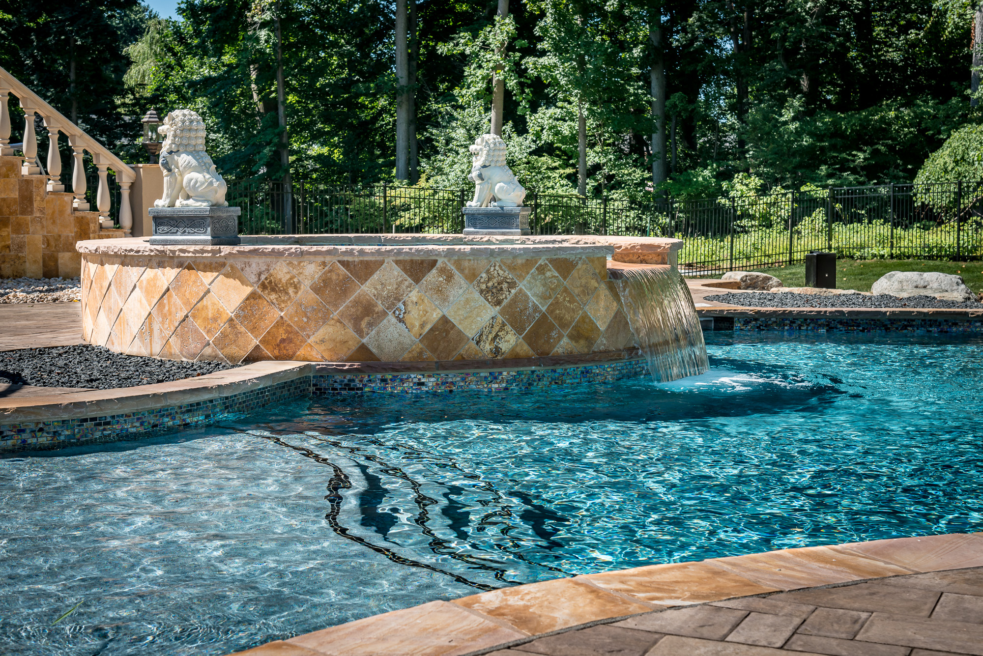 Holmdel nj custom inground swimming pool design for Pool design inc bordentown nj