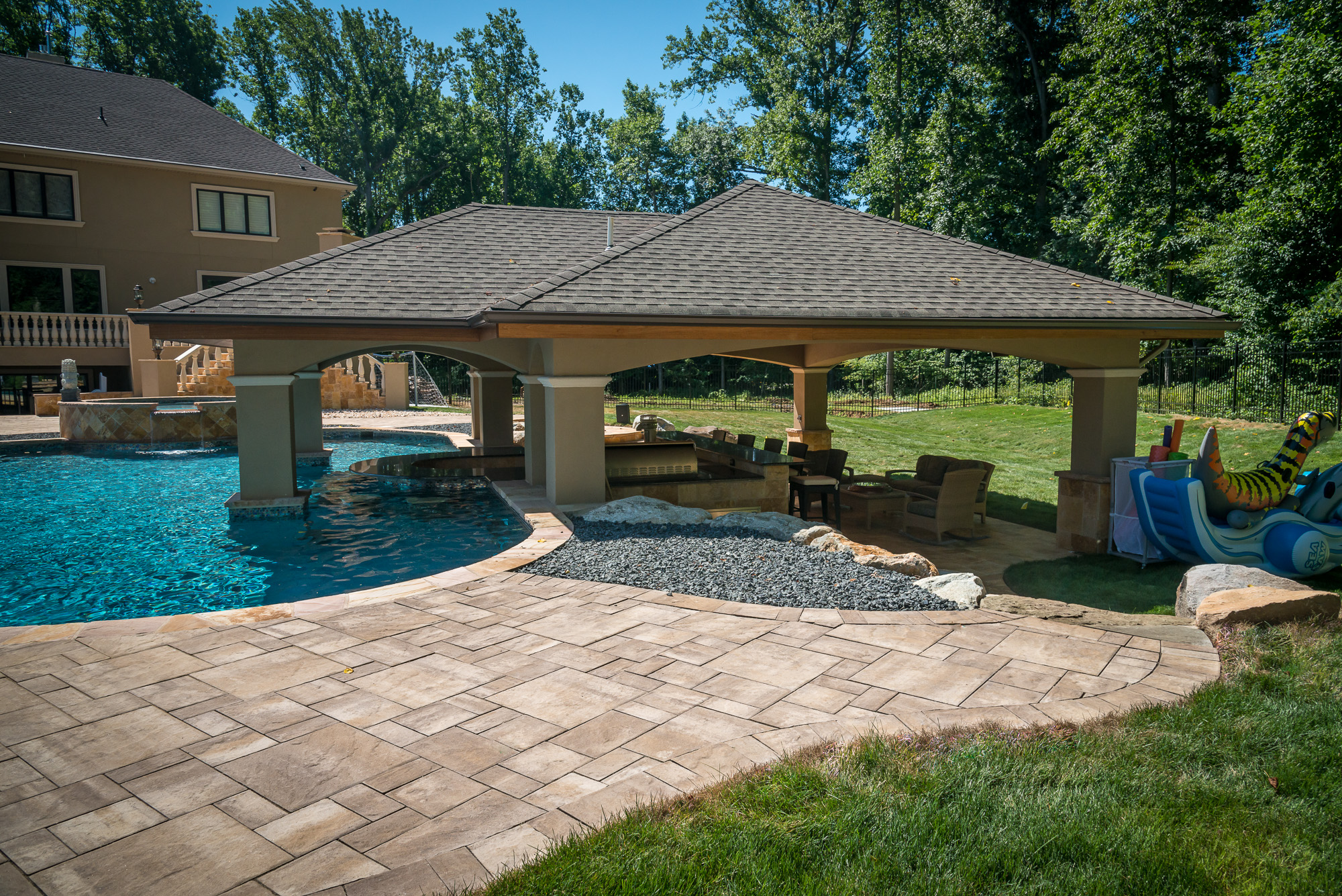 Holmdel nj custom inground swimming pool design for Pool design nj