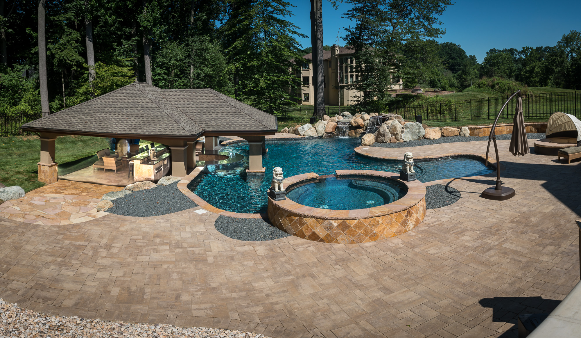 Holmdel nj custom inground swimming pool design for Pool design new jersey