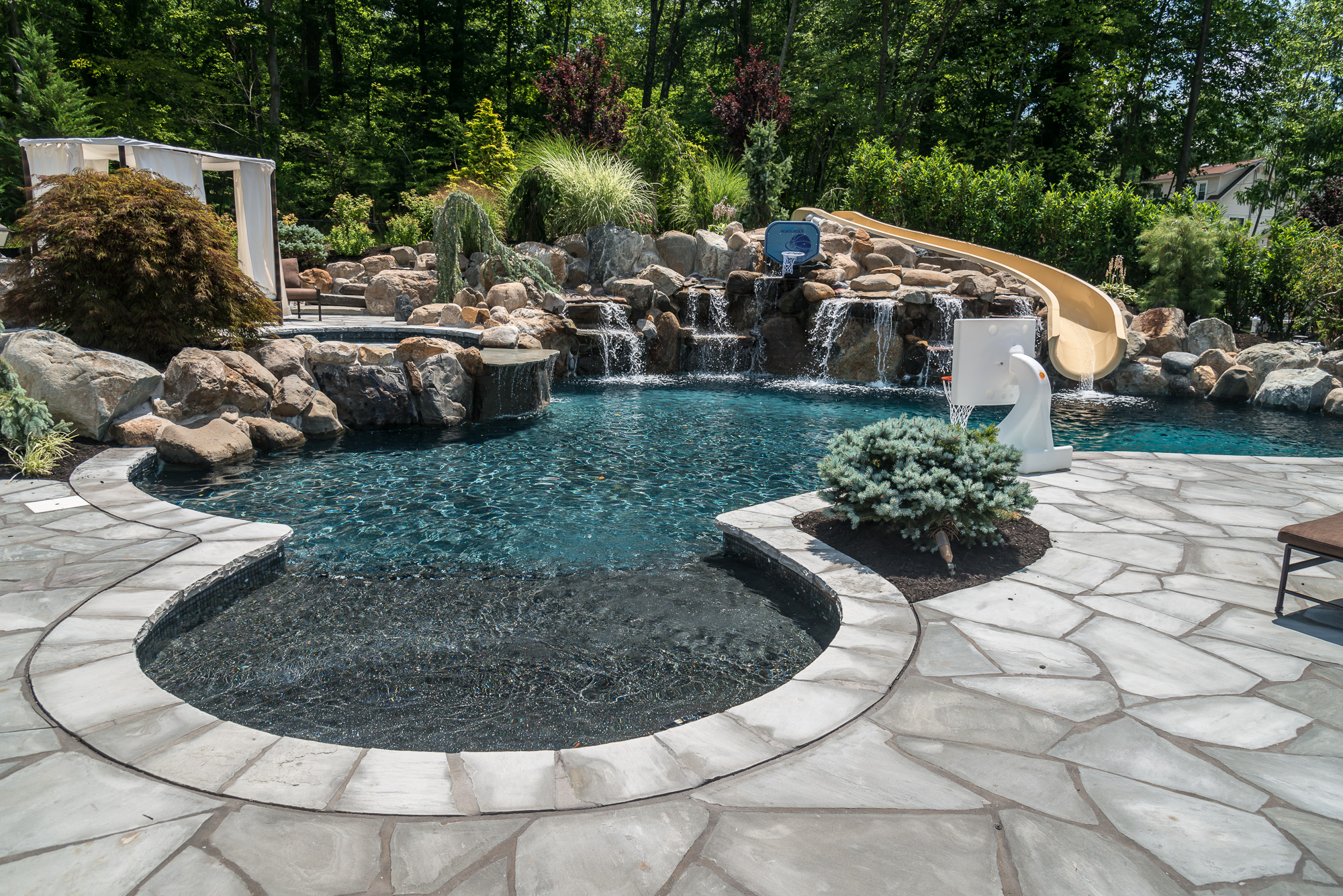 New 50 custom inground pools decorating design of custom for Pool design hamilton nj