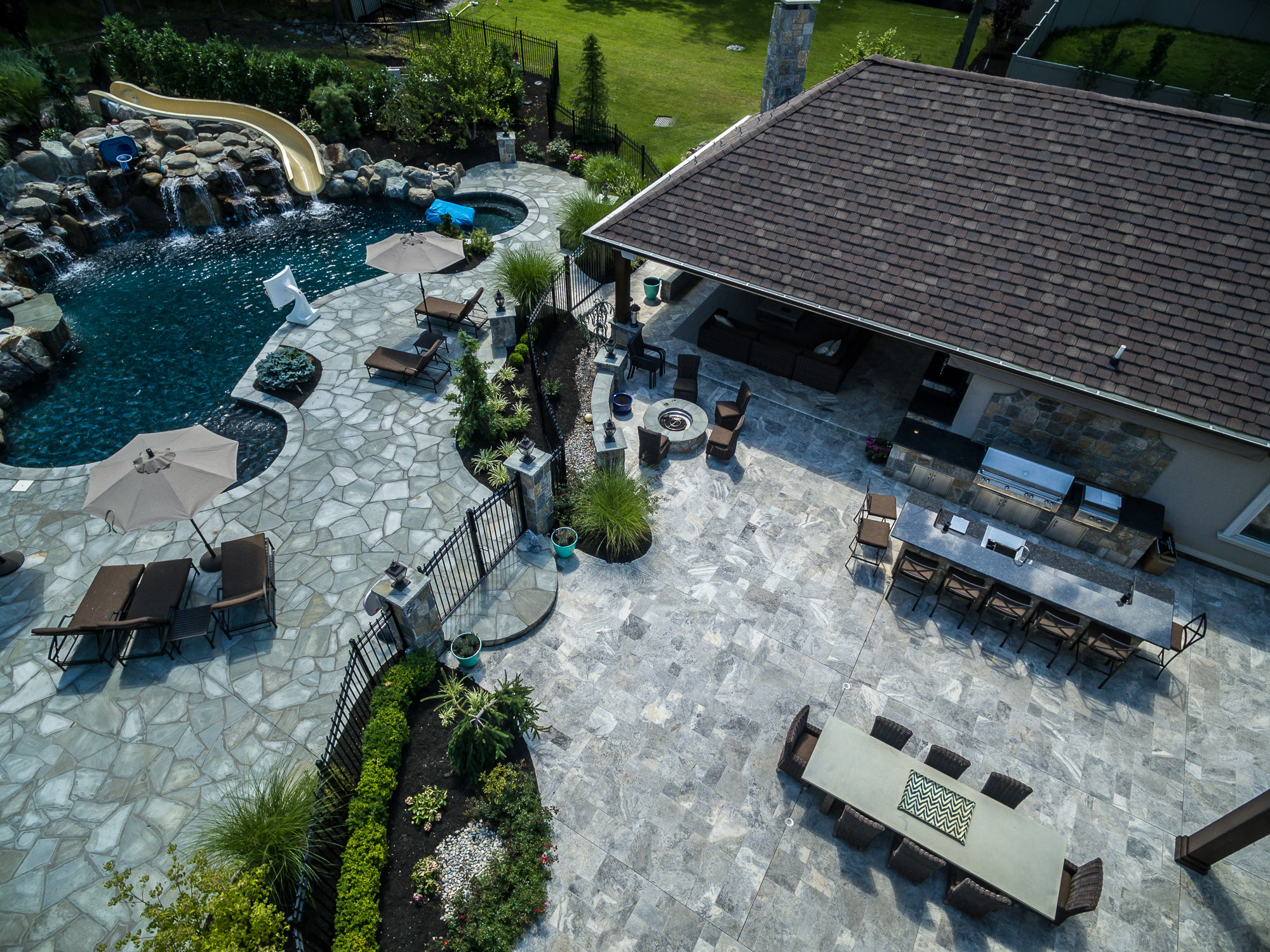 Pools By Design glass wall infinity edge Inground Pools Livingston Nj Pools By Design New Jersey