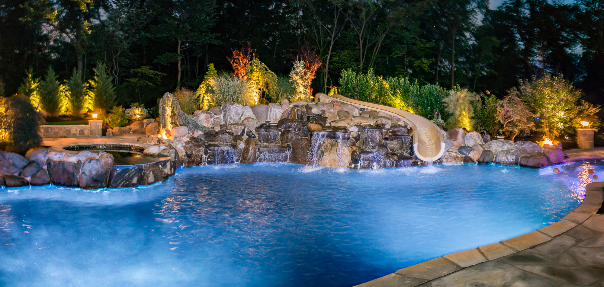 Inground pools livingston nj pools by design new jersey for Outdoor pools in nj