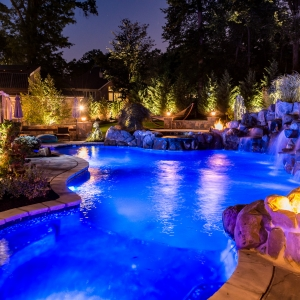 Pools By Design pool with sheer descent thumbnail Inground Pools Livingston Nj Pools By Design New Jersey