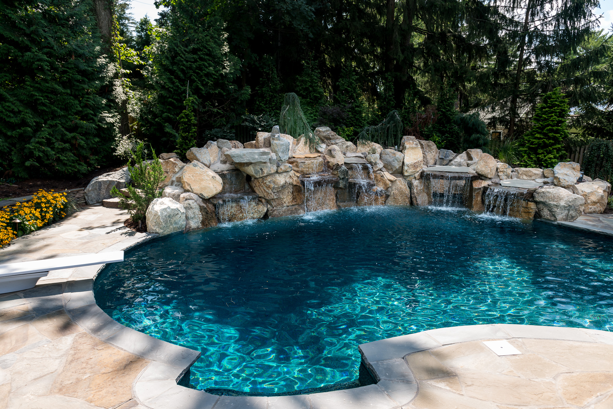 New providence nj custom inground swimming pool design for Pool design new jersey