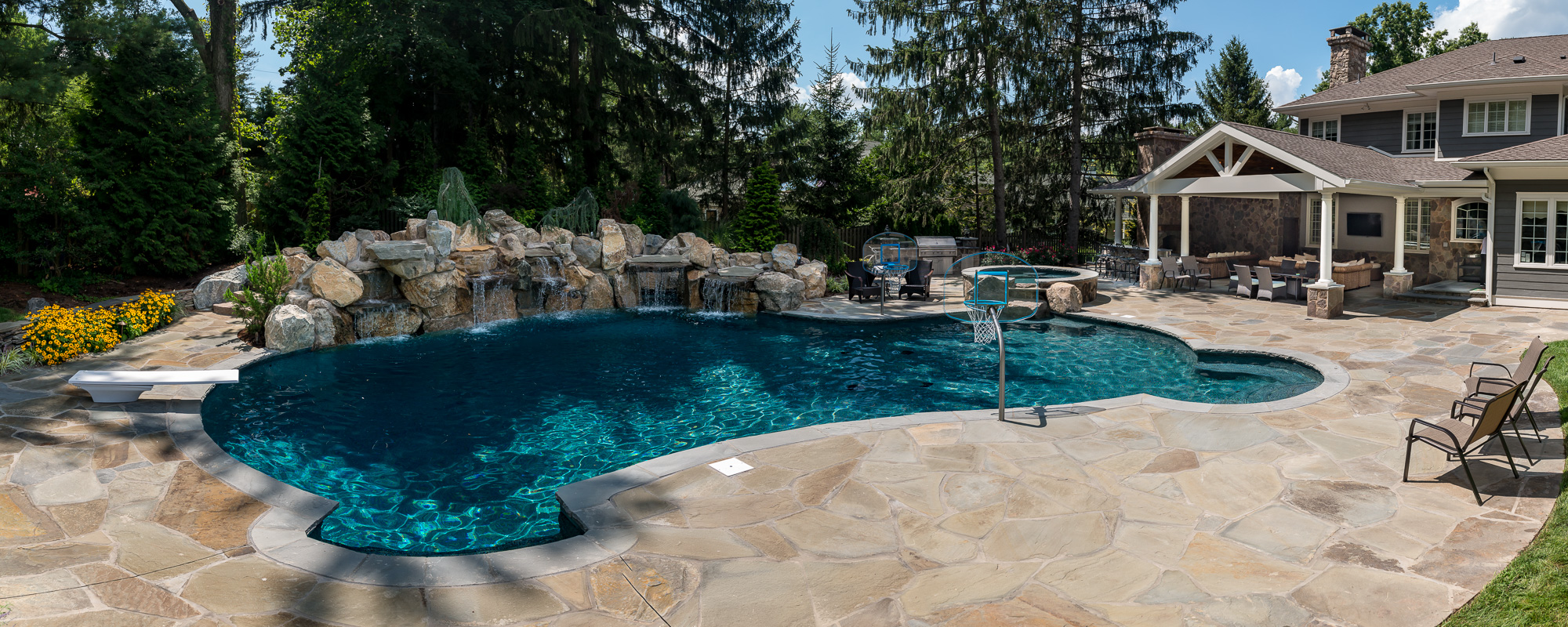 New providence nj custom inground swimming pool design for Pool design hamilton nj