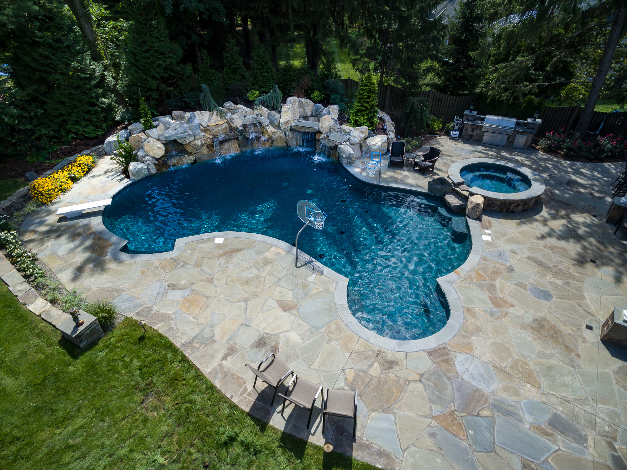 Swimming Inground Pools : New providence nj custom inground swimming pool design