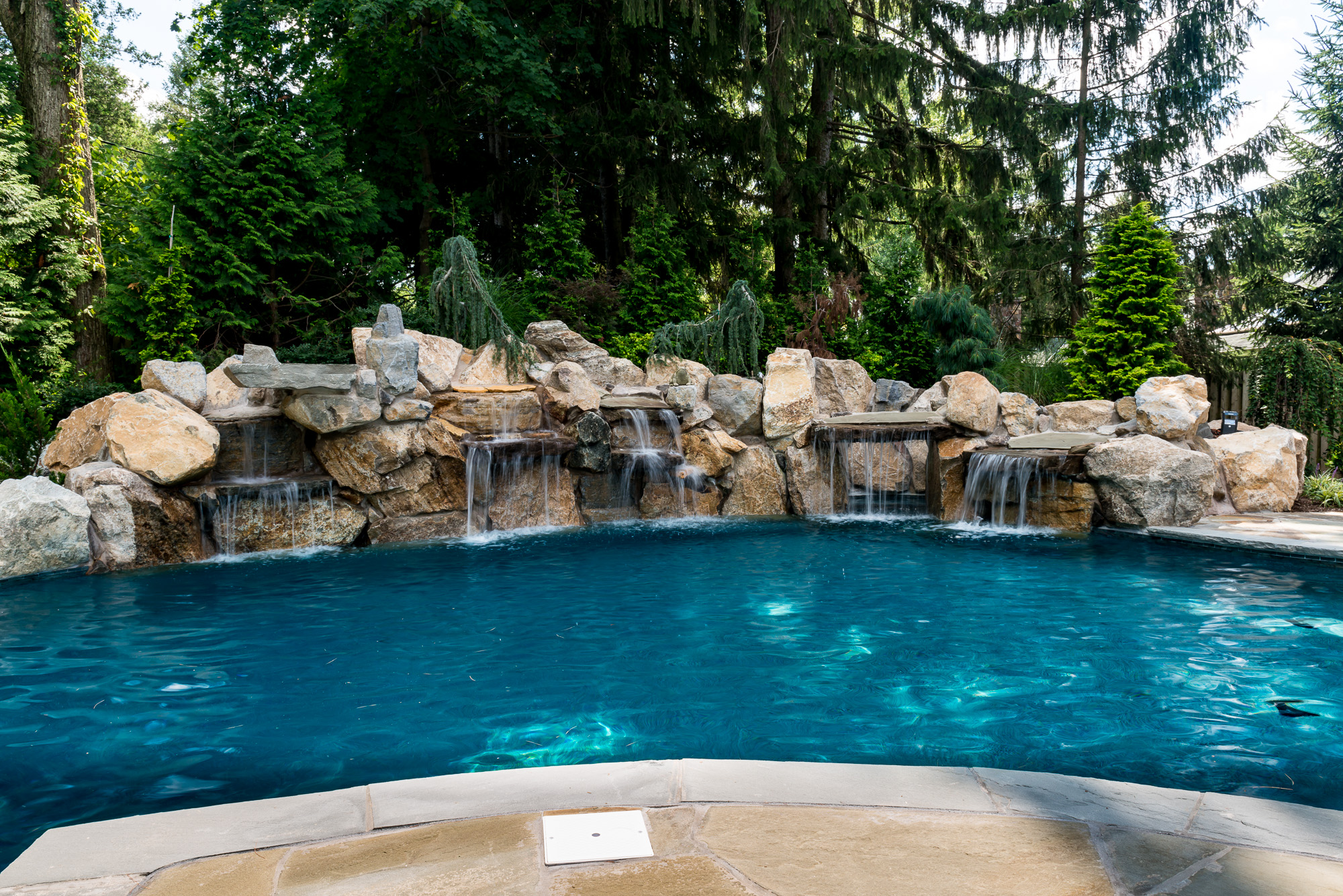 New providence nj custom inground swimming pool design for In ground swimming pool contractors