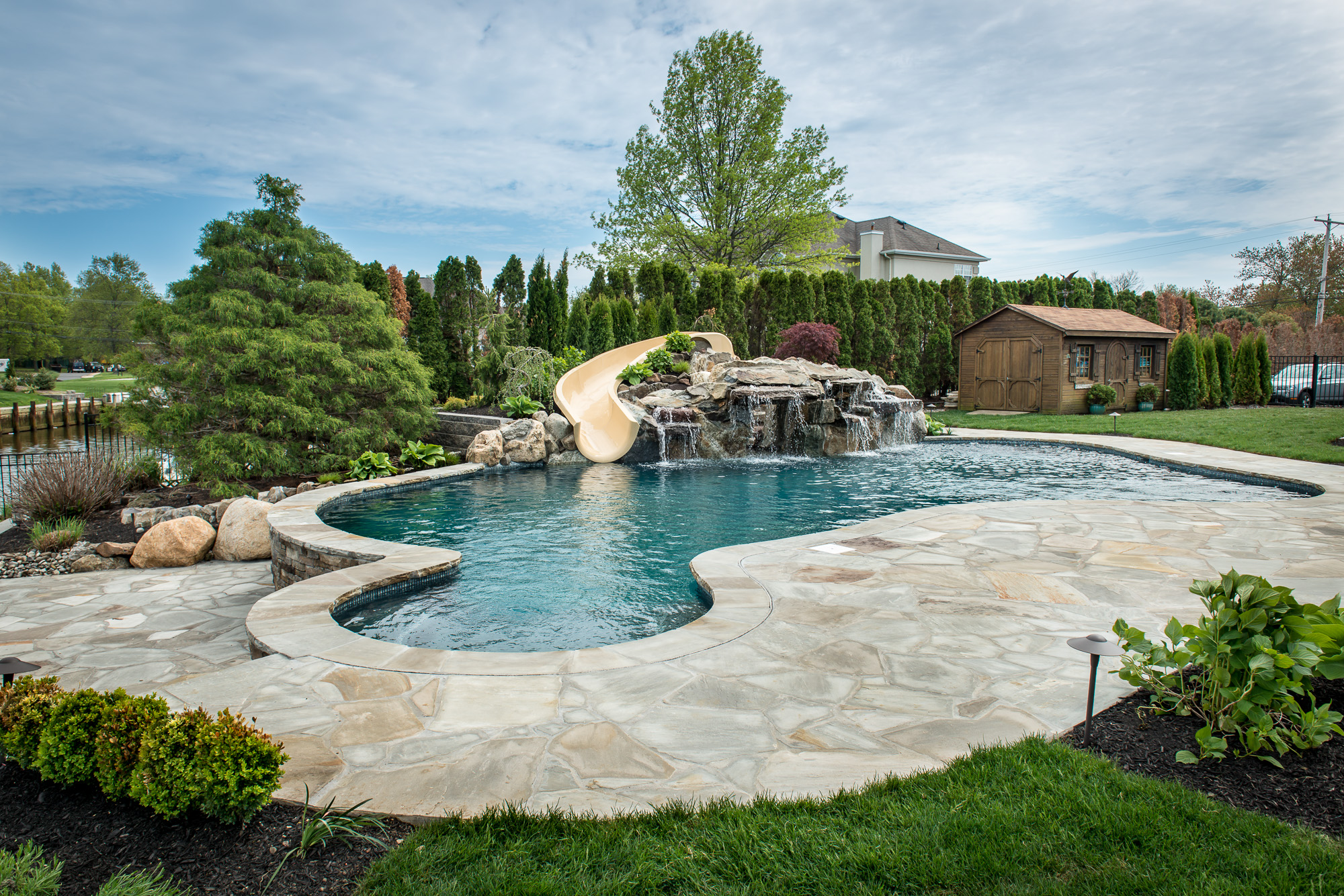 Inground pools oceanport nj by pools by design new jersey for Pool design hamilton nj