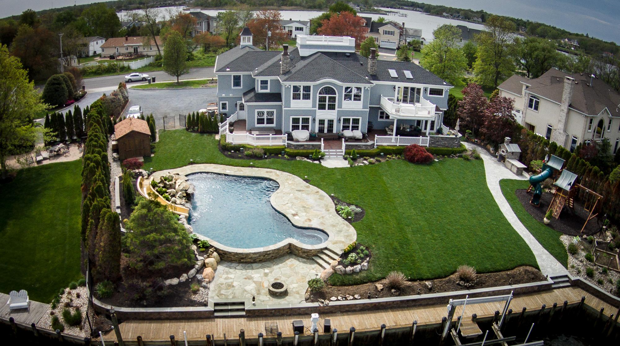 Oceanport, NJ - Custom Inground Swimming Pool Design & Construction
