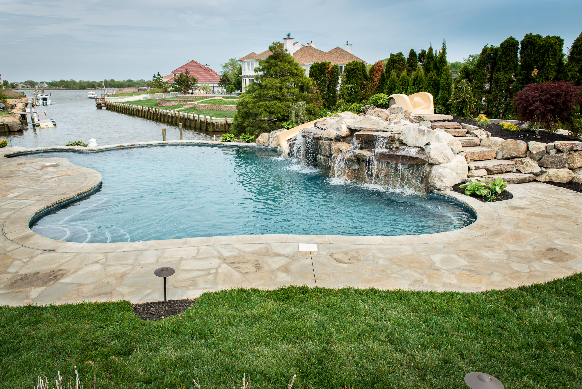 Custom inground pool design and install oceanport nj for Pool design inc bordentown nj