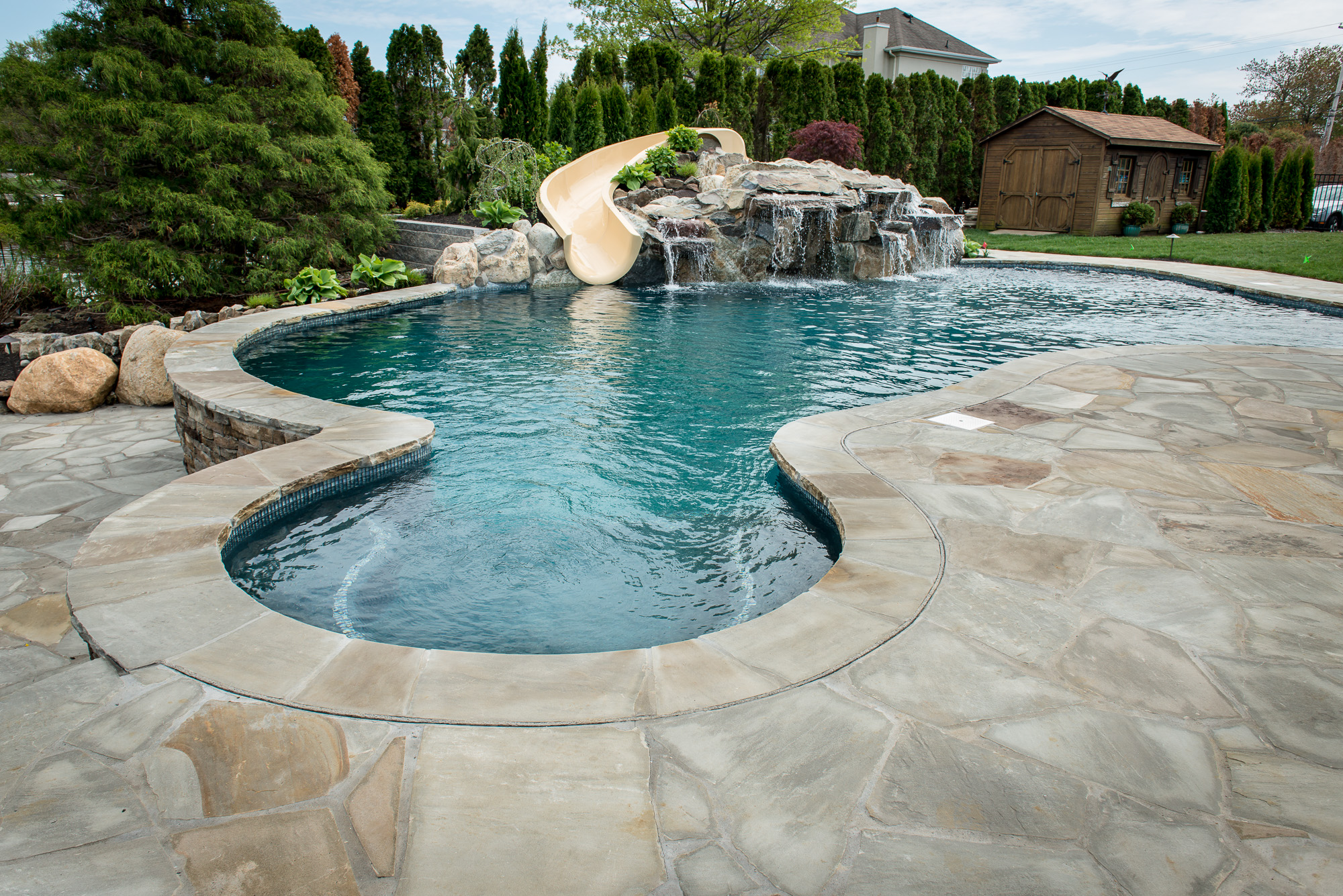 Custom inground pool design and install oceanport nj for Custom inground swimming pools