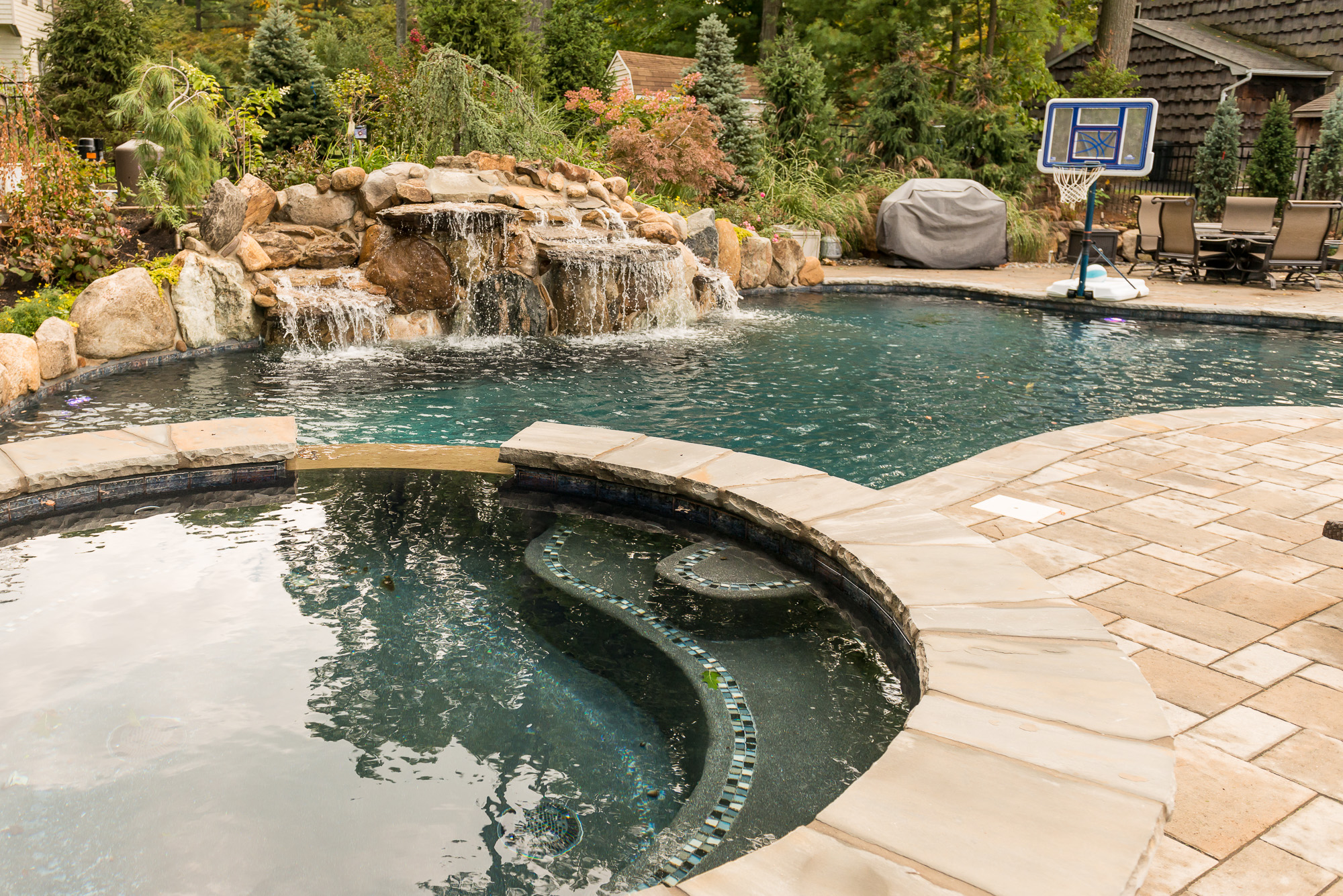 Rivervale nj custom inground swimming pool design for Pool design hamilton nj