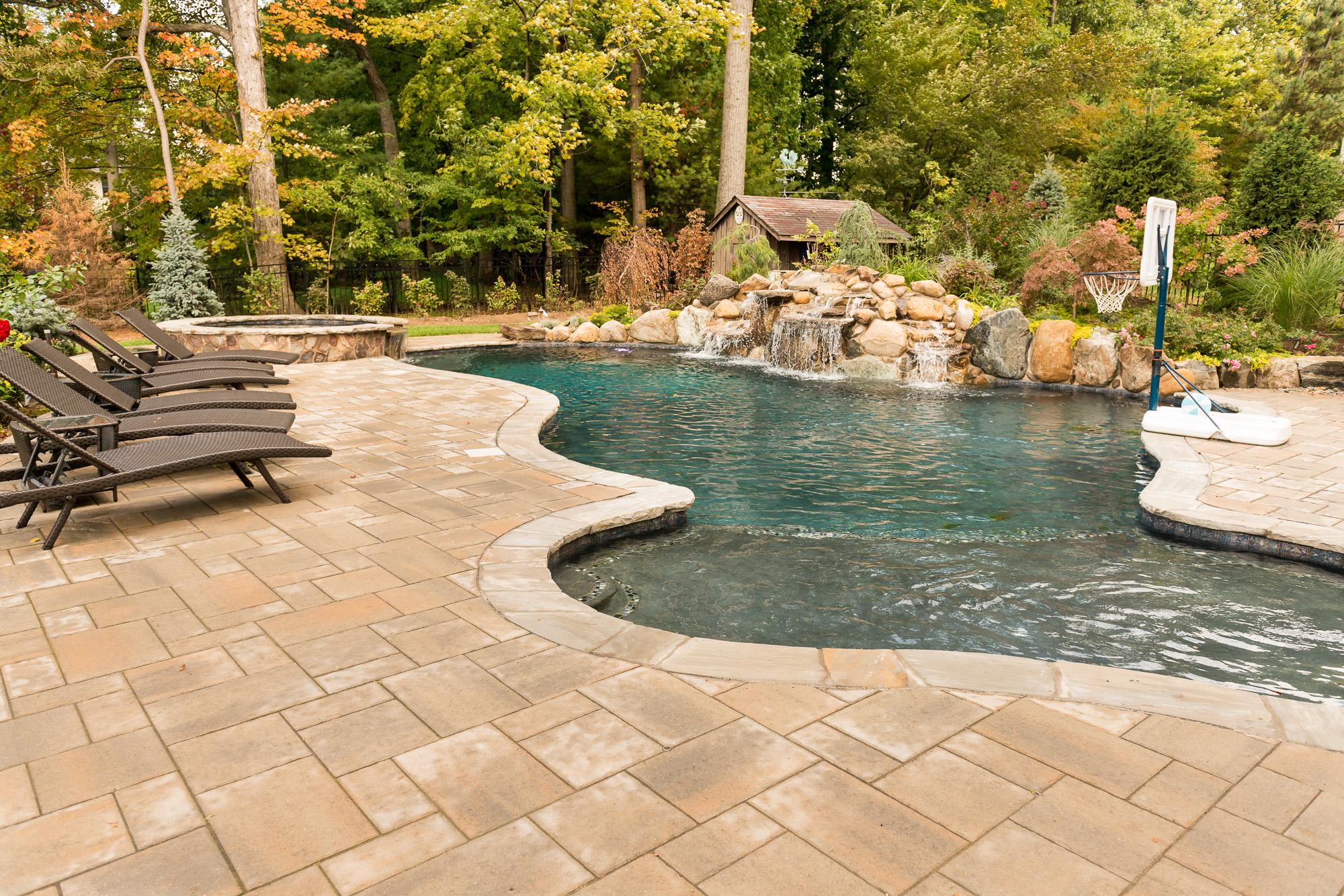 Rivervale nj custom inground swimming pool design for Outdoor pools in nj