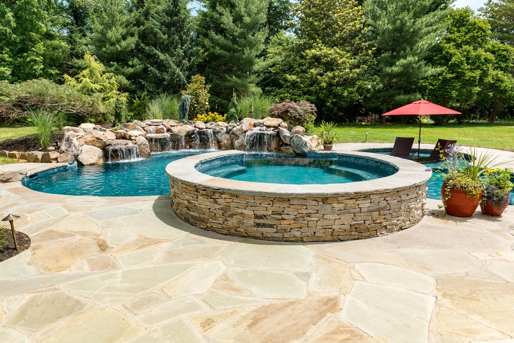 Rumson nj custom inground swimming pool design for Pool design hamilton nj