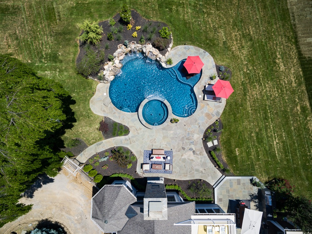 Custom Pools By Design gallery of landscaping ideas by nj custom pool backyard design expert affordable swimming pools trends granite retaining wall paramus Inground Pools Rumson Nj By Pools By Design New Jersey
