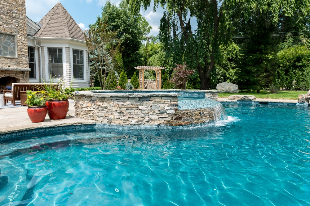Rumson nj custom inground swimming pool design for Pool design new jersey