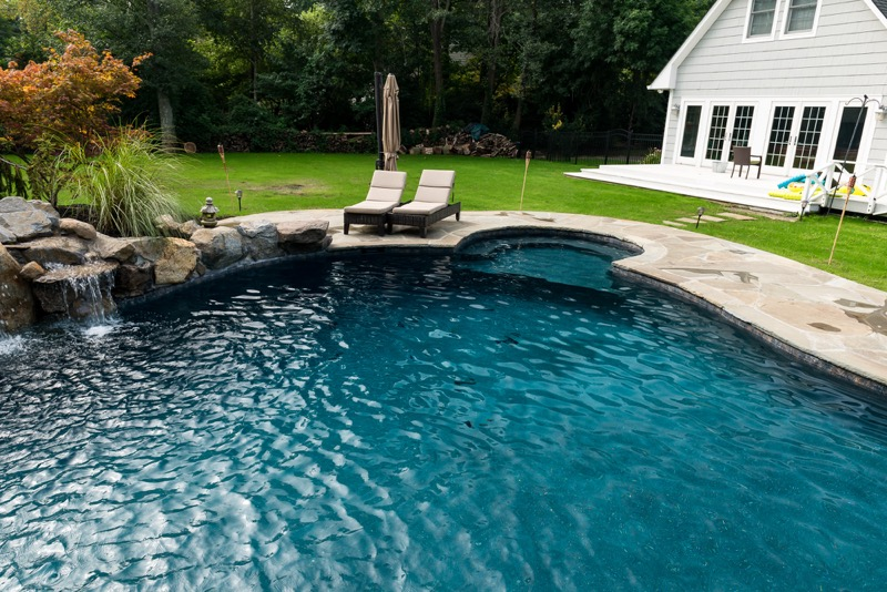 Rumson nj custom inground swimming pool design for Pool design inc bordentown nj