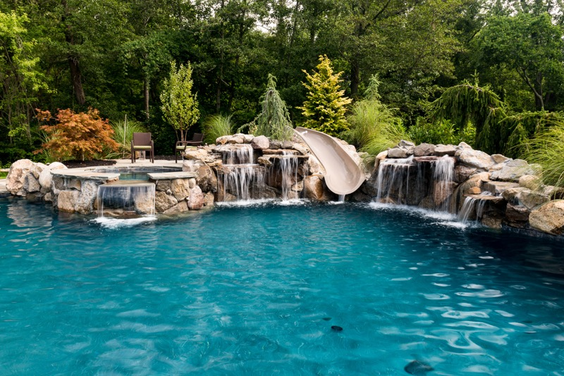 Inground pools rumson nj by pools by design new jersey for Pool design by laly