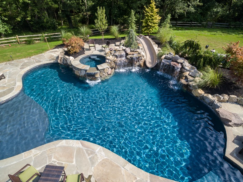 Inground pools rumson nj by pools by design new jersey for Inground swimming pool construction