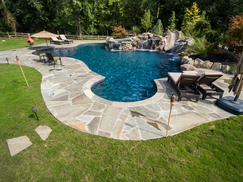 Rumson nj custom inground swimming pool design for Pool design inc bordentown nj