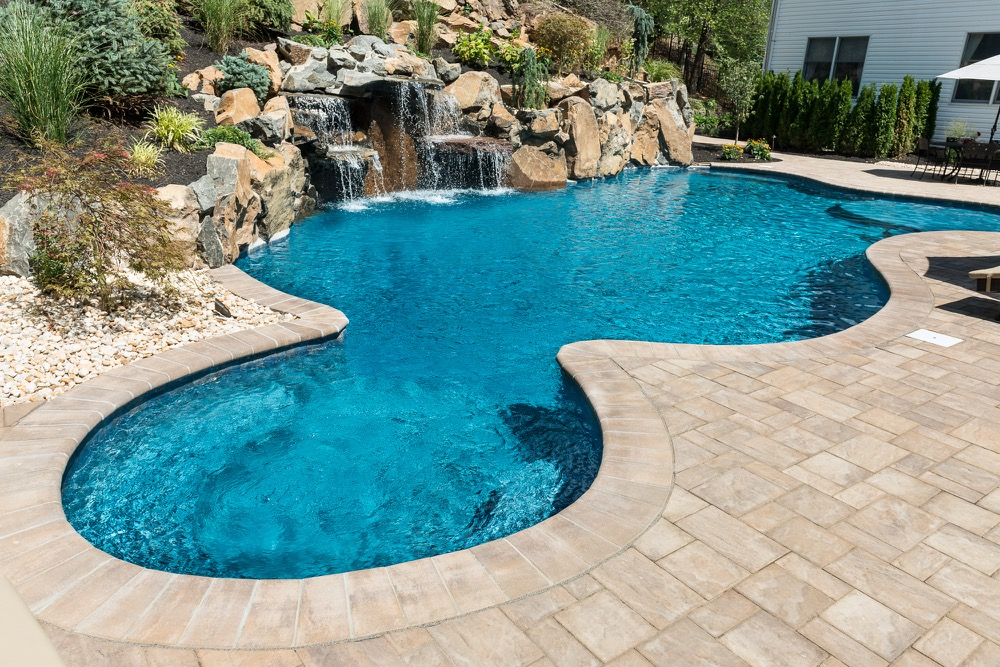 Wayne nj custom inground swimming pool design construction for Custom inground swimming pools