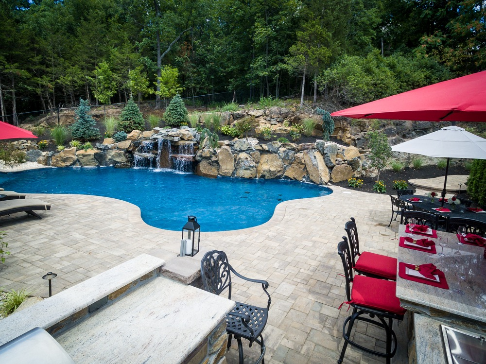 Inground pools wayne nj by pools by design new jersey for Pool design hamilton nj
