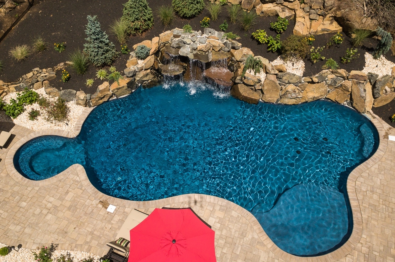 Gunite pools nj spas custom inground swimming pools for Pool design hamilton nj