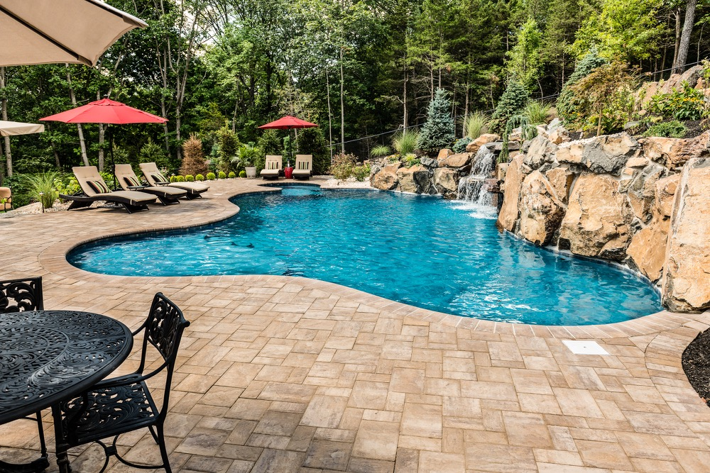 Wayne nj custom inground swimming pool design construction for Pool design inc bordentown nj