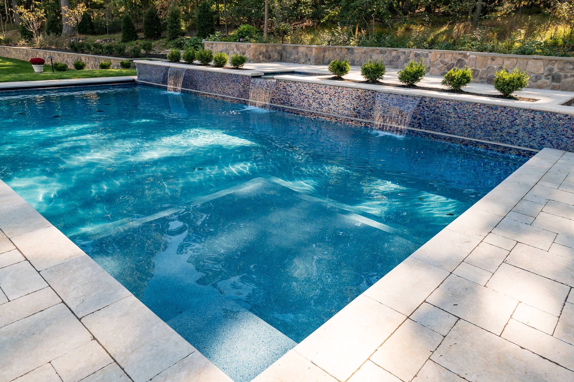 Inground Pool and Spa in Watchung by Pools by Design NJ