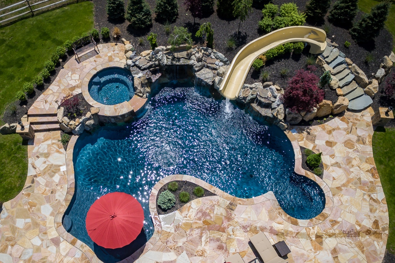 Gunite Pools Nj Spas Custom Inground Swimming Pools