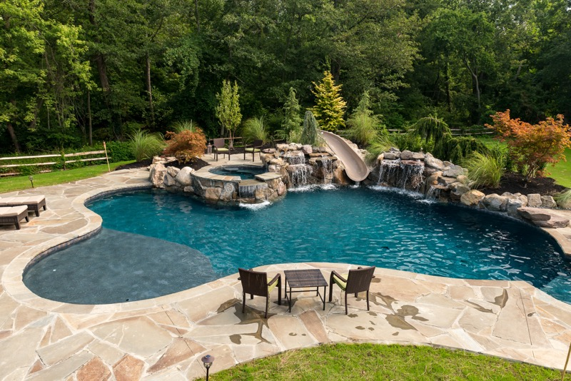 Photo albums archive custom inground swimming pool for Pool design nj