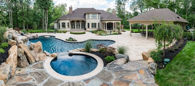 Warren nj custom inground swimming pool design for Pool design nj